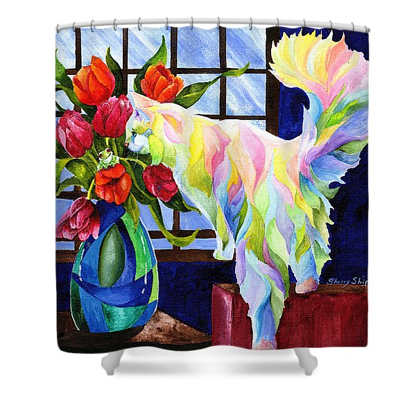 Rainbow Connection Shower Curtain