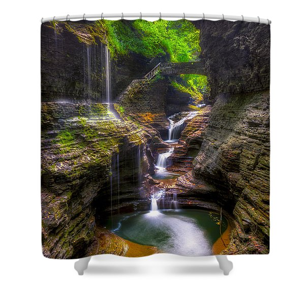 Rainbow Falls Of Watkins Glen Shower Curtain