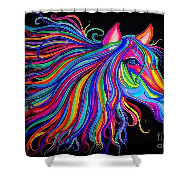 Rainbow Horse Too Shower Curtain