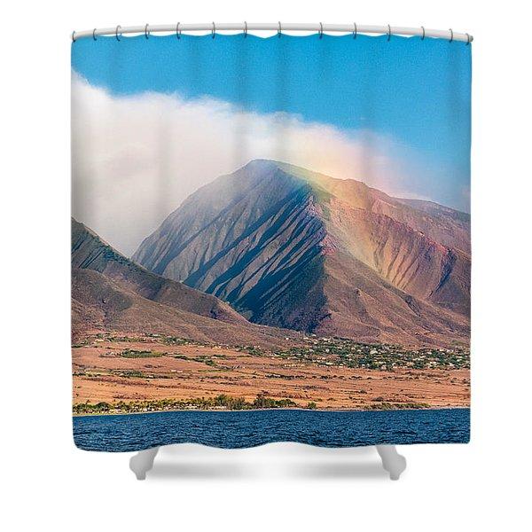 Rainbow Over Maui Mountains   Shower Curtain