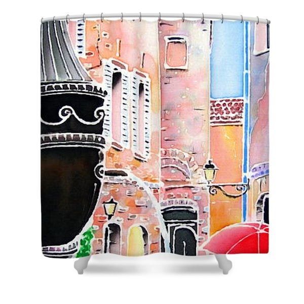 Raining In St-paul De Vence Shower Curtain