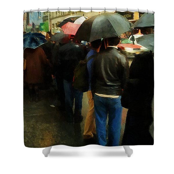 Rainy Afternoon On Broadway Shower Curtain