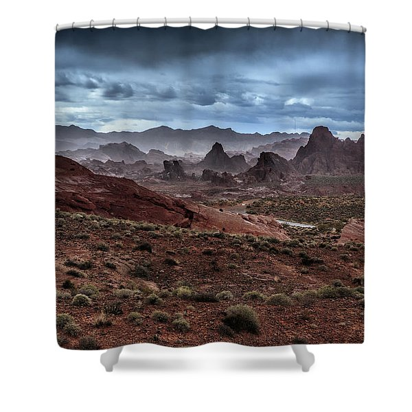 Rainy Day In The Desert Shower Curtain