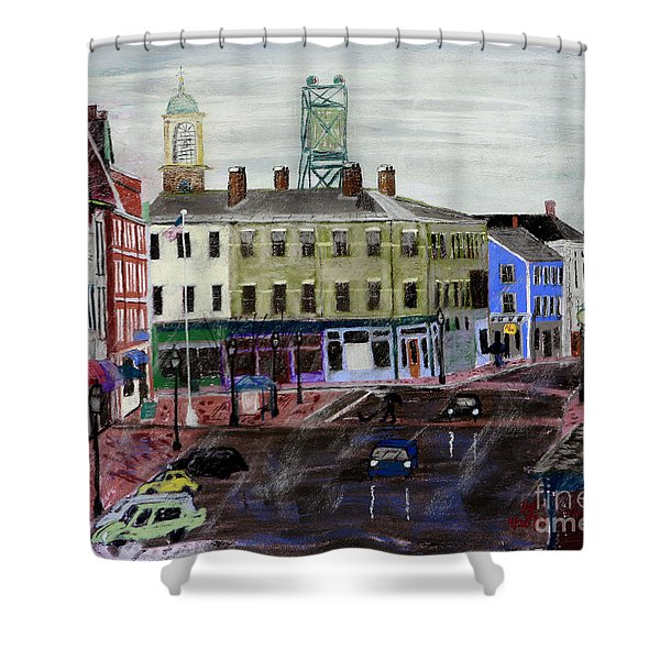 Rainy Day On Market Square Shower Curtain