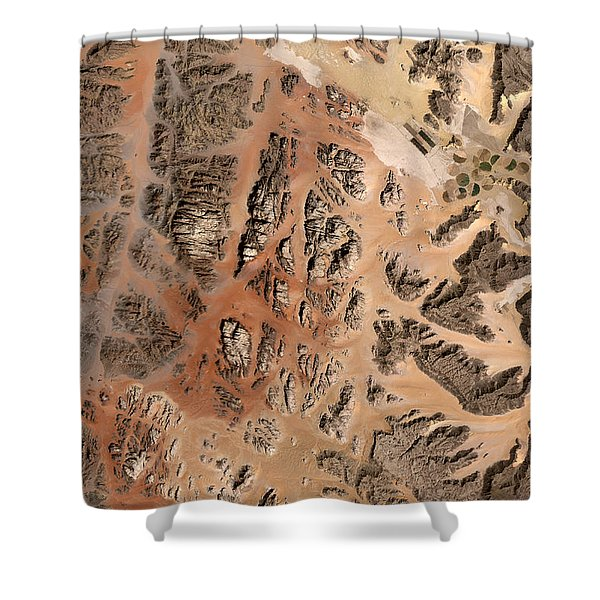 Ram Desert Transjordanian Plateau Jordan Shower Curtain