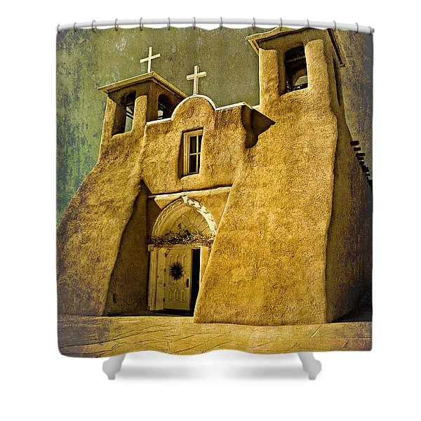 Ranchos Church In Old Gold Shower Curtain