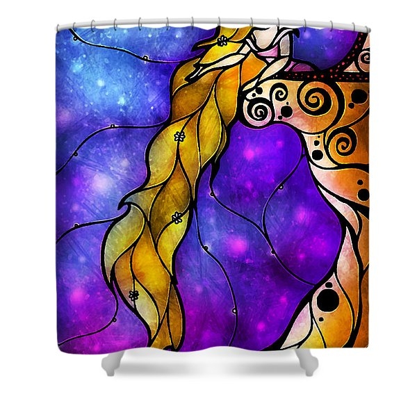 Rapunzel Shower Curtain