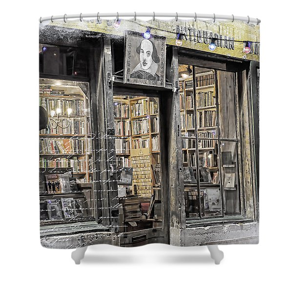 Rare Books Latin Quarter Paris France Shower Curtain