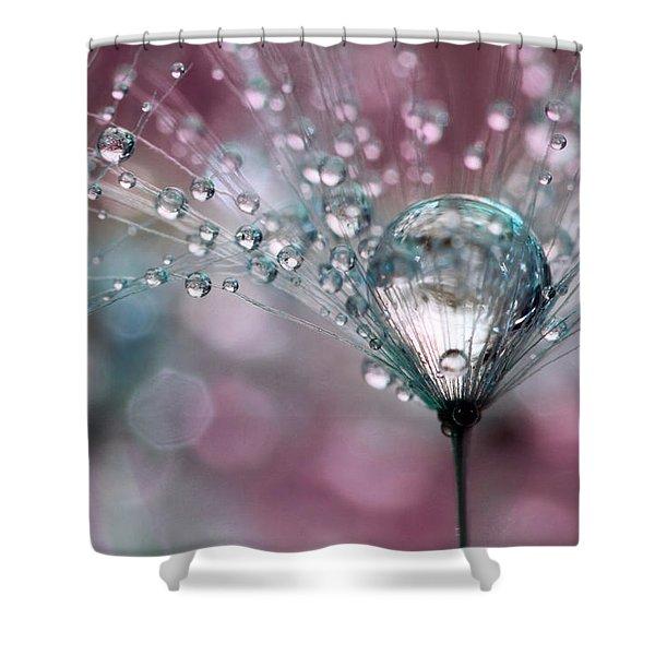 Rasberry Sparkles Shower Curtain
