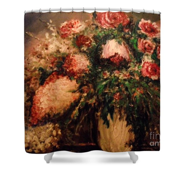 Shower Curtain featuring the painting Raspberry Jammies by Laurie Lundquist