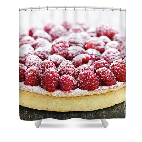 Raspberry Tart Shower Curtain