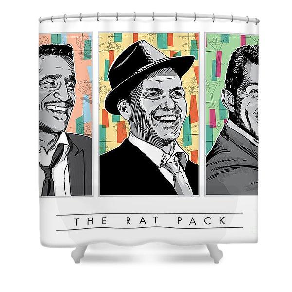 Rat Pack Pop Art Shower Curtain