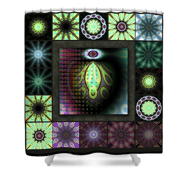 Ravaged Visions Redux Shower Curtain