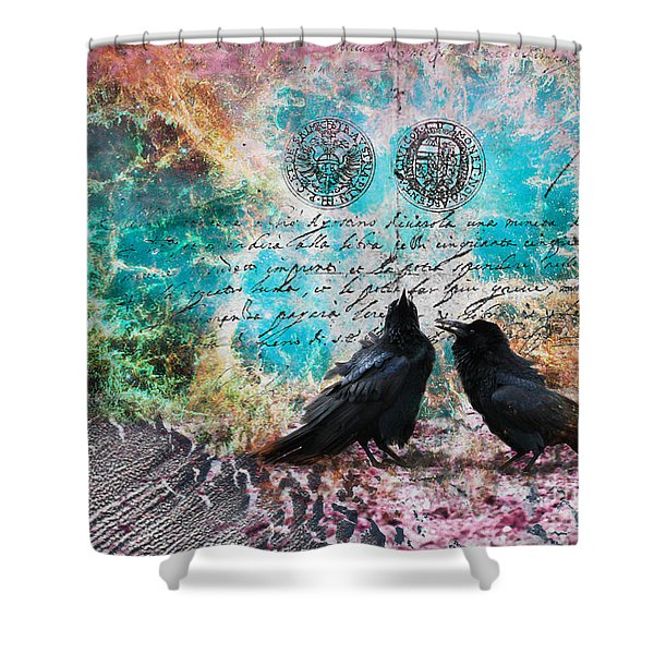 Crow Whispers In The Nowhere Shower Curtain