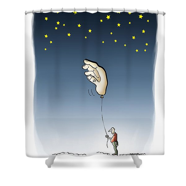 Reach For The Stars Shower Curtain