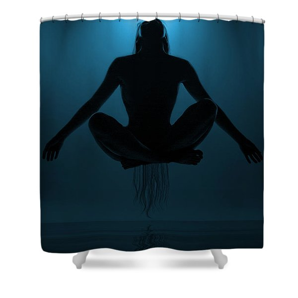 Reaching Nirvana.. Shower Curtain
