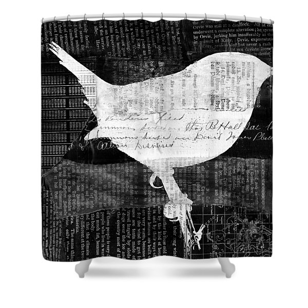 Reader Bird Shower Curtain