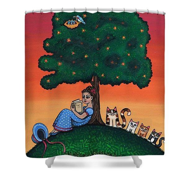 Reading Jane Shower Curtain