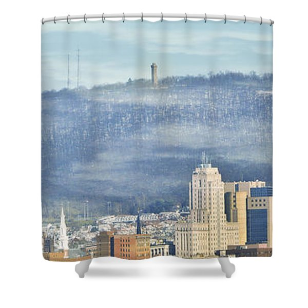 Reading Skyline Shower Curtain