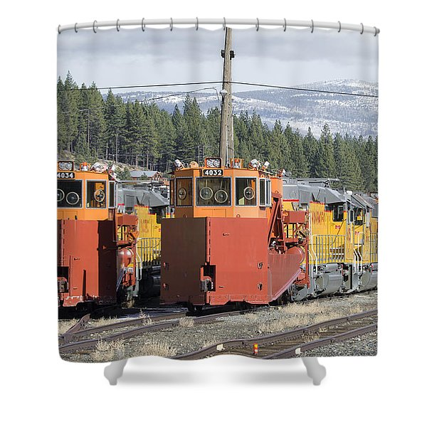 Ready For More Snow At Donner Pass Shower Curtain