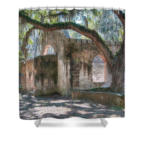 Rear View Of The Chapel Of Ease Shower Curtain