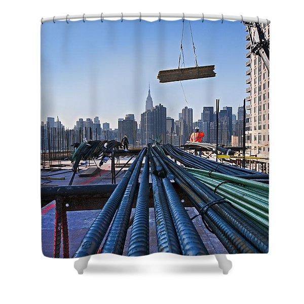 Rebar Shower Curtain