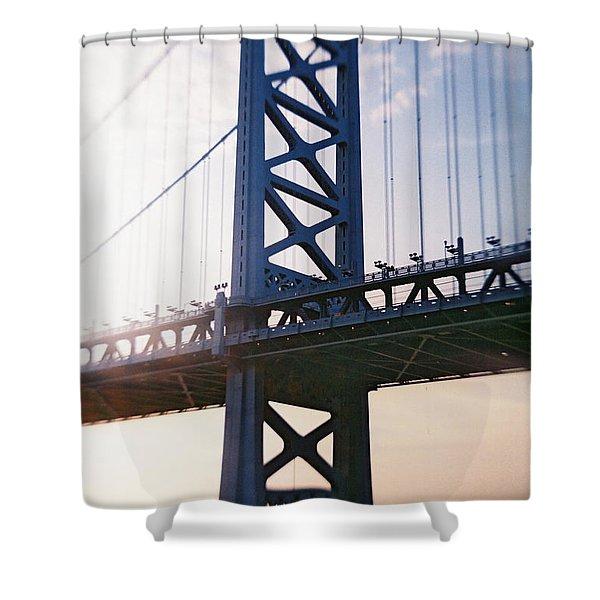 Recesky - Ben Franklin Bridge Shower Curtain