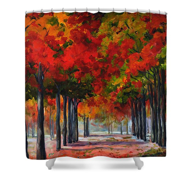 Red Alley II Shower Curtain