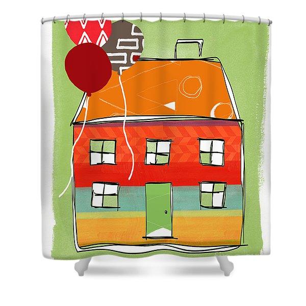 Red Balloon Shower Curtain