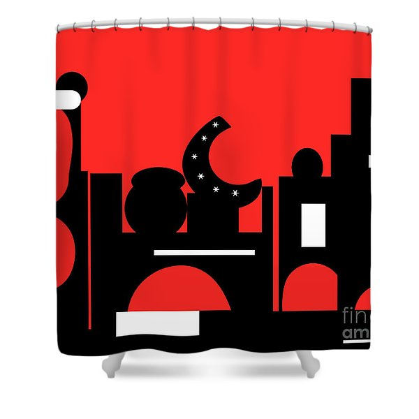 Red Bazaar Shower Curtain