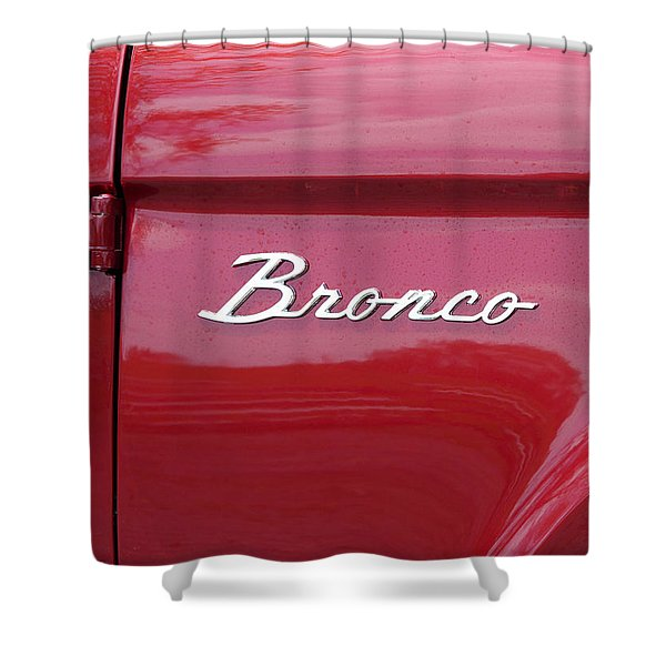 Red Bronco I Shower Curtain