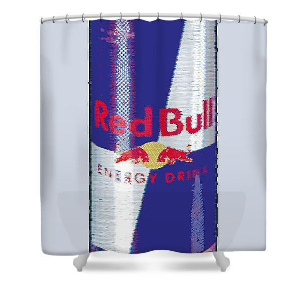 Red Bull Ode To Andy Warhol Shower Curtain