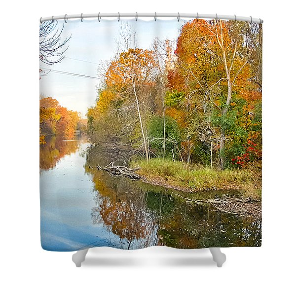 Red Cedar Fall Colors Shower Curtain