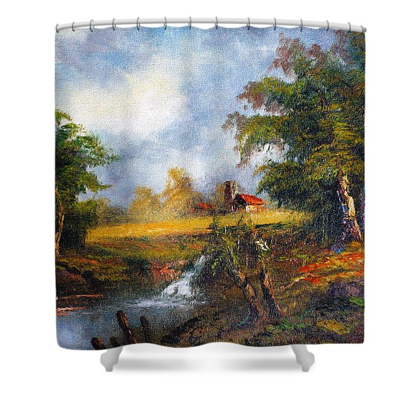 Red Cottage Shower Curtain