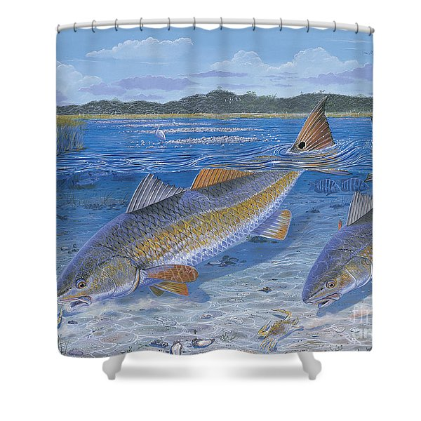 Red Creek In0010 Shower Curtain