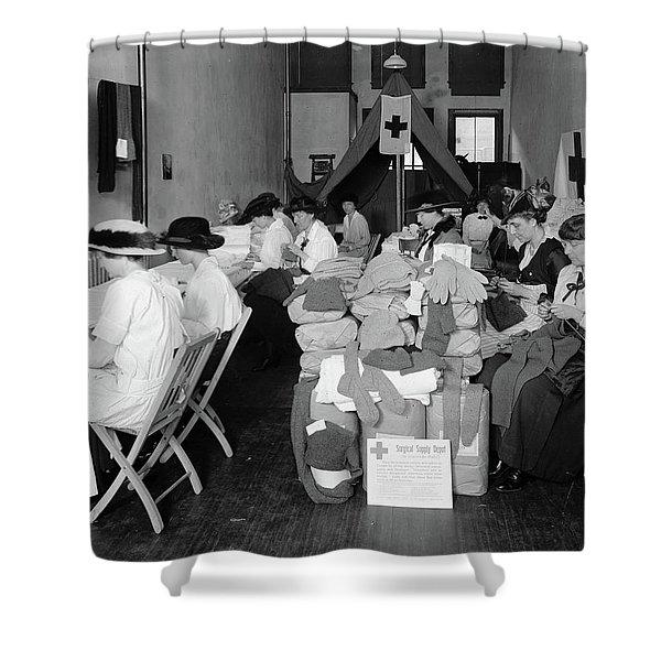 Red Cross Depot, C1920 Shower Curtain