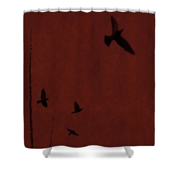 Red Darkness Shower Curtain
