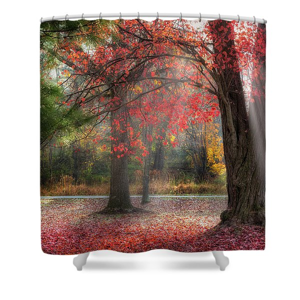 Red Dawn Square Shower Curtain