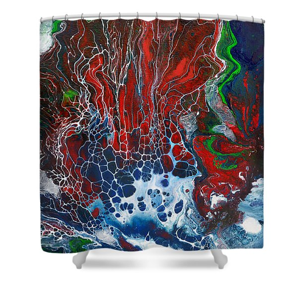 Red Fan Coral Shower Curtain
