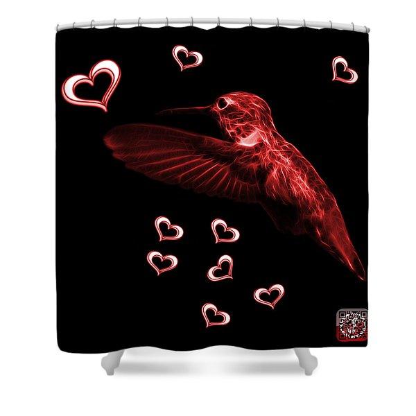 Red Hummingbird - 2055 F M Shower Curtain
