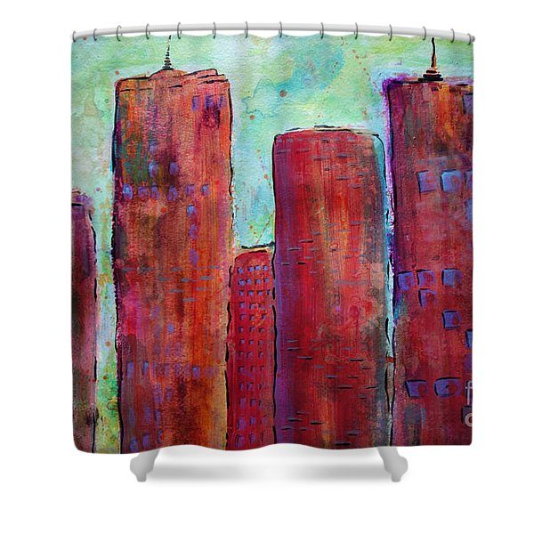 Red In The City Shower Curtain