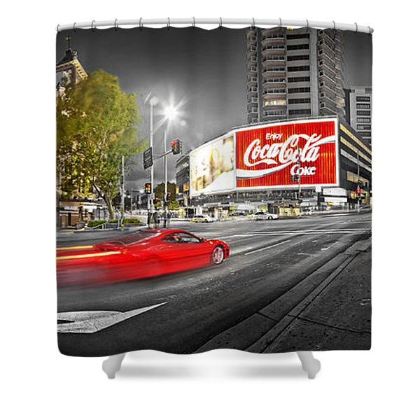 Red Lights Sydney Nights Shower Curtain