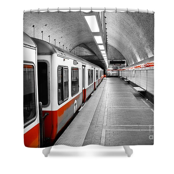 Red Line Shower Curtain