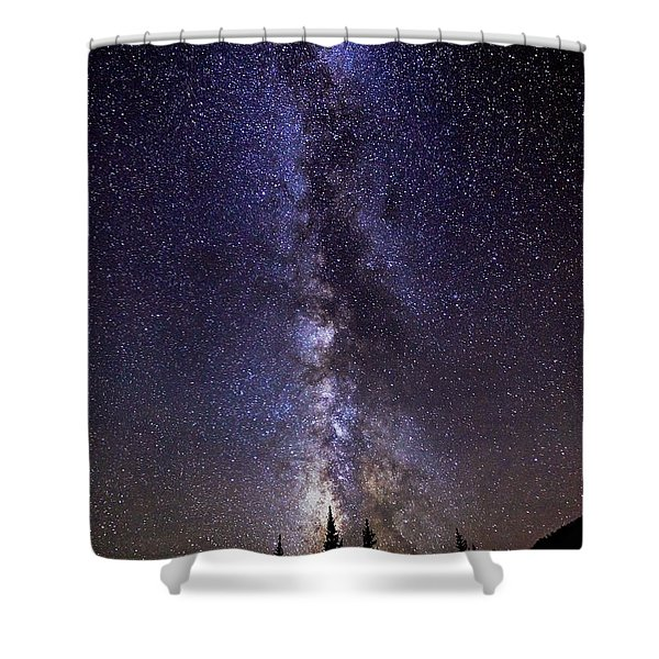 Red Mountain Milky Way Shower Curtain