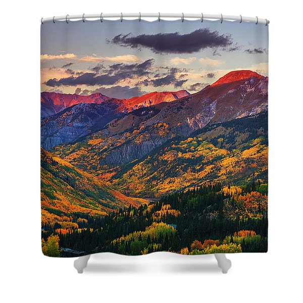 Red Mountain Pass Sunset Shower Curtain