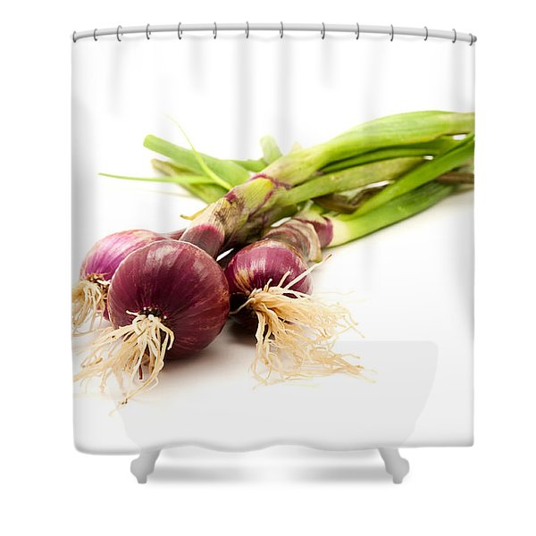 Shower Curtain featuring the photograph Red Onions by Fabrizio Troiani