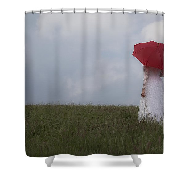 Red Parasol Shower Curtain