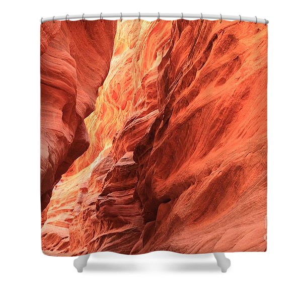 Red Rock Bend Shower Curtain