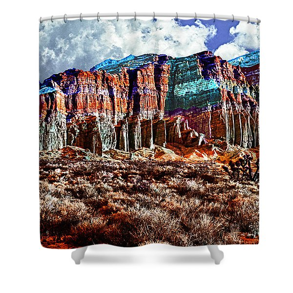Red Rock Canyon California State Park Shower Curtain