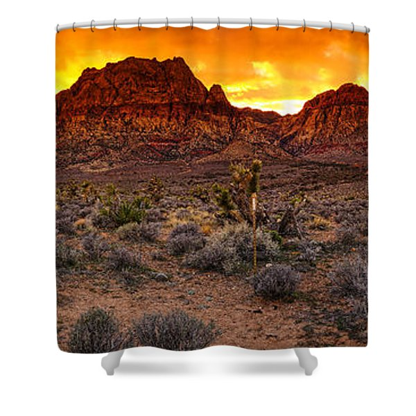 Red Rock Canyon Las Vegas Nevada Fenced Wonder Shower Curtain